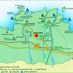 map of Côtes de granit rose